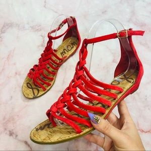 Sam Edelman Dakota Golden Rod Gladiator Sandals